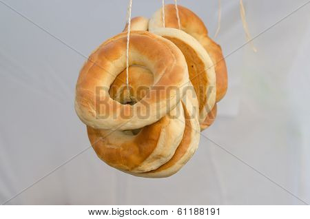 Homemade ring-shaped rolls