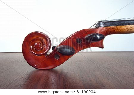 Pegbox and Scroll of violin.