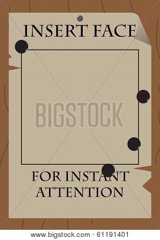 Insert Face Poster