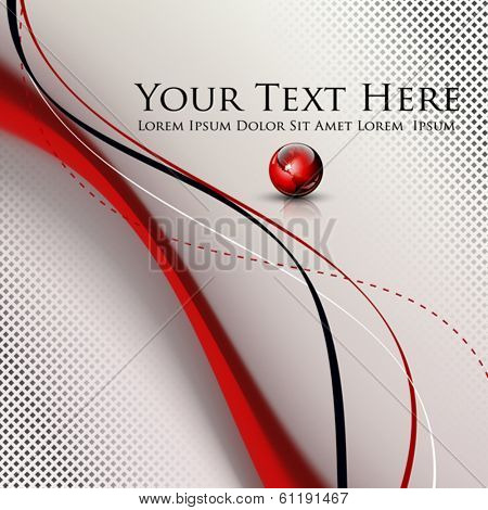 Abstract lines background with dedicated room for your text and logo - vector illustration