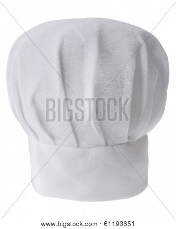 white chef's hat on white background