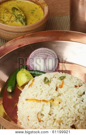 Ghee Bhatt - An Indian Rice Dish From Bengal