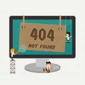 pic of oops  - Page not found 404 error eps10 vector format - JPG