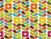 stock photo of scandinavian  - Bright floral ornament in scandinavian style - JPG