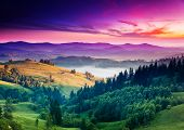 picture of wild adventure  - Fantastic morning mountain landscape - JPG