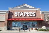 JACKSONVILLE, FLORIDA - MARCH 8, 2014: A Staples retail store in Jacksonville. Staples is an America