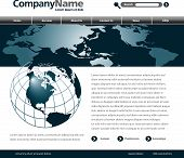 pic of web template  - A Vector web site design template in blue - JPG