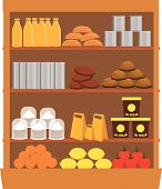 supermarket display. vector illustration