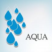 pic of water shortage  - World Water Day concept with blue water drops on grey background - JPG