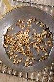 Roasted Pine Nuts In A Pan