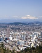 picture of portland oregon  - View of Portland Oregon from Pittock Mansion - JPG