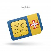 Madeira mobile phone sim card with flag.