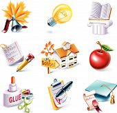 picture of school building  - Set of the highly detailed cartoon icons - JPG