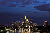 stock photo of frankfurt am main  - The skyline of Frankfurt am Main in Germany - JPG