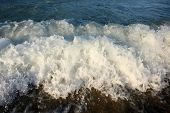 stock photo of wallow  - Close up of sea waves who wallow - JPG