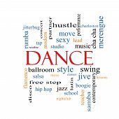picture of hustle  - Dance Word Cloud Concept with great terms such as music classes ballroom and more - JPG