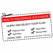 image of bronze silver gold platinum  - A red white and black Health Insurance Exchange Coupon making a great concept with terms such as platinum gold silver and more - JPG