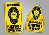 foto of bigfoot  - Bigfoot Warning Signs - JPG