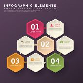 pic of hexagon  - modern vector abstract hexagon option infographic elements - JPG