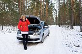 picture of breakdown  - Winter car breakdown - JPG