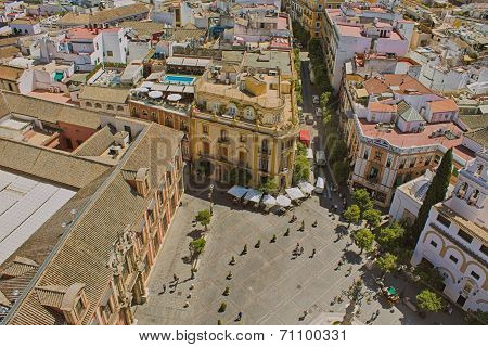 Aerial View Of The City Of Sevilla, Andalucia, Spain