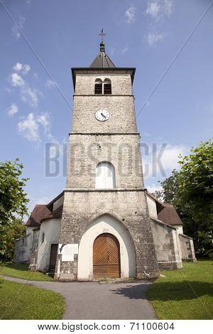 Old Roman Church In The Village Of Sarrogna In The Jura
