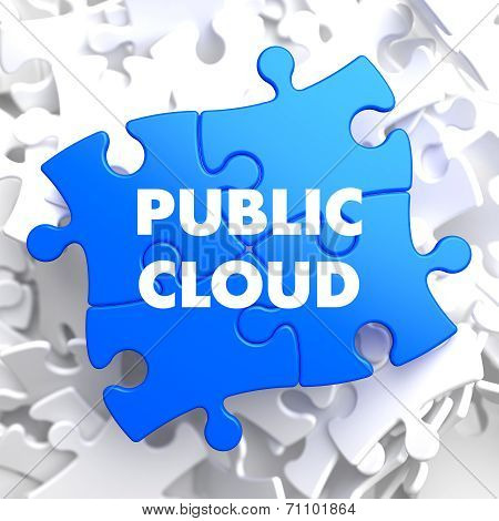 Public Cloud on Blue Puzzle.