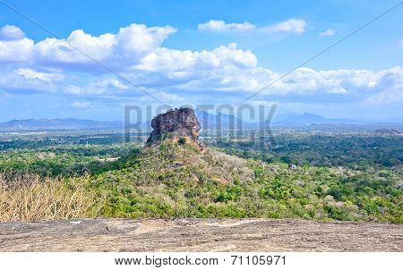 Sigiriya Rock Fortress View From Pidurangala Rock
