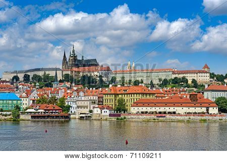 view on the Prague , Prague Castle, Czech Republic.