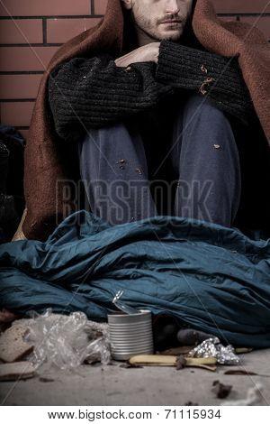 A Homeless Depressed Man
