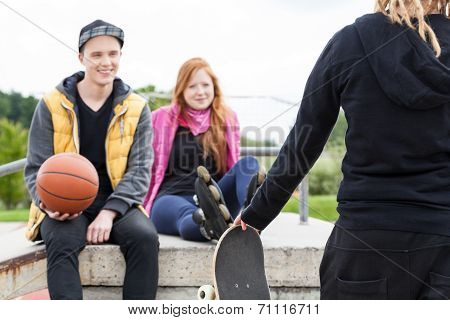 Young People At Skate Park