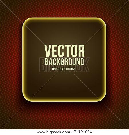 Round modern sticker on re background. Vector illustration