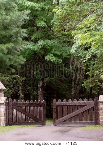 Old Wooden Entry Gate