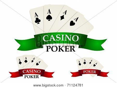 Casino gambling symbols and signs