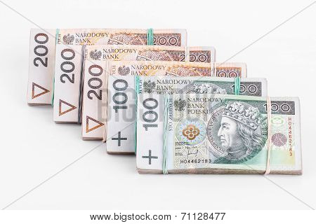 Stack of polish money