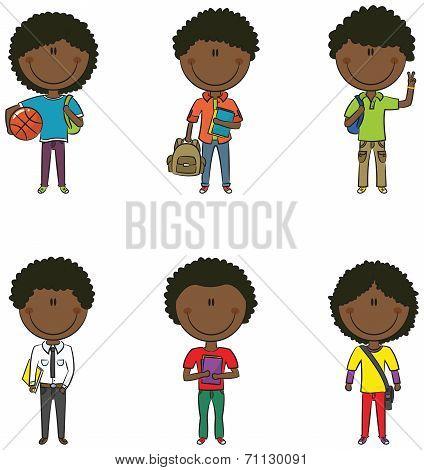 African-american School Boys