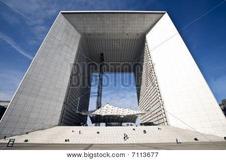 Wide Angle Photo Of La Grande Arche In La Defense In Paris
