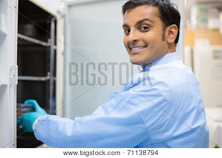 Smiling Lab Technician