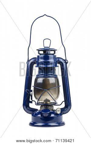 kerosene lamp isolated on white