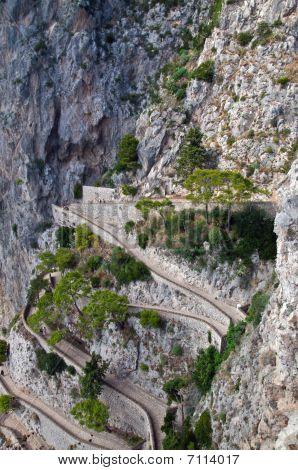 The Via Krupp In Capri Island, Italy