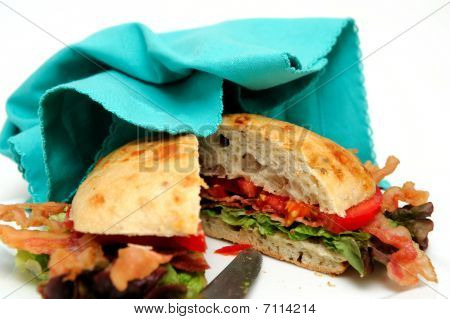 Bacon Lettuce And Tomato Sandwich And Napkin