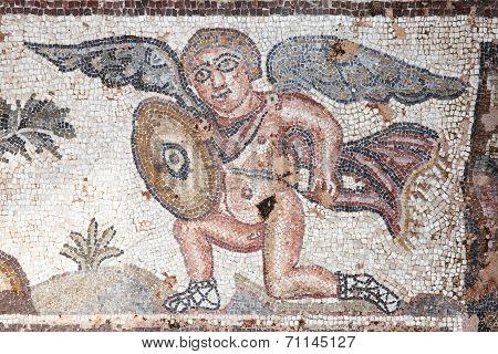 Cupid Roman mosaic