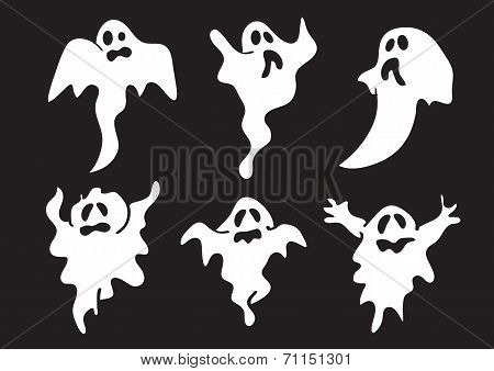 Cute And Funny White Ghost For Halloween