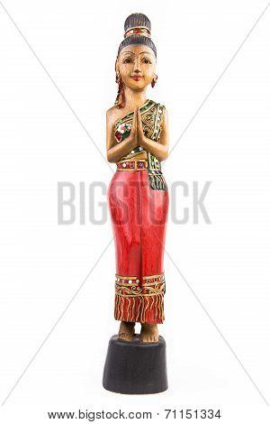 Ethnic wooden statue