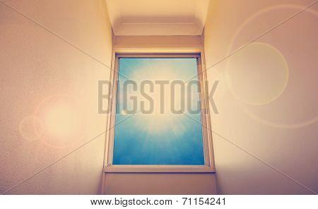 Blue Sky Window Instagram Style