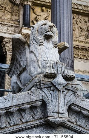 Statue, Basilica Of Fourviere, Lyon, France