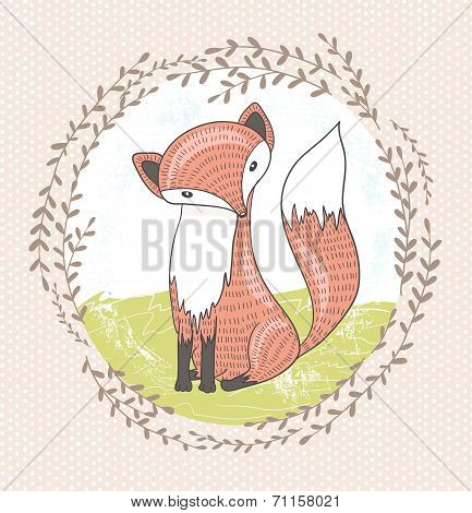Cute Little Fox Illustration For Children