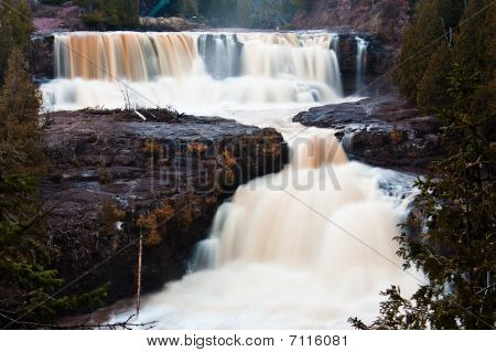 Lower  Middle Falls Of Gooseberry River