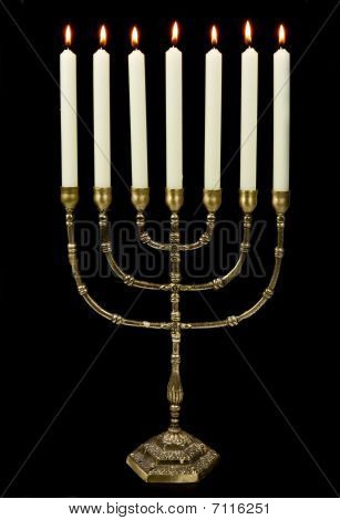 Gold Menorah Candles