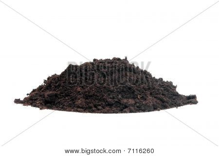 Pile Of Black Garden Soil